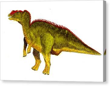 Hadrosaurus Canvas Print by Michael Vigliotti