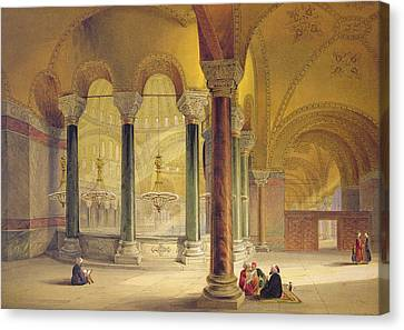 Haghia Sophia, Plate 11 The Meme Canvas Print by Gaspard Fossati