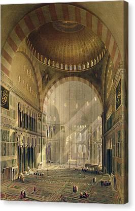Haghia Sophia, Plate 24 Interior Canvas Print by Gaspard Fossati
