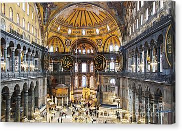 Hagia Sofia Interior 35 Canvas Print by Antony McAulay