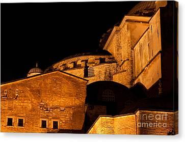 Hagia Sophia At Night Canvas Print by Rick Piper Photography
