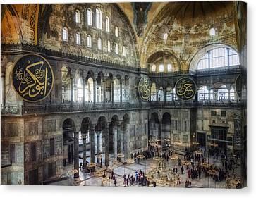 Hagia Sophia Interior Canvas Print by Joan Carroll