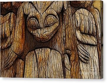 Haida Totem Canvas Print by Bob Christopher