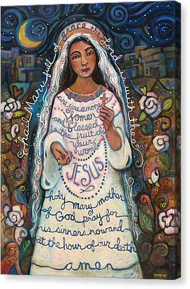 Hail Mary Canvas Print by Jen Norton