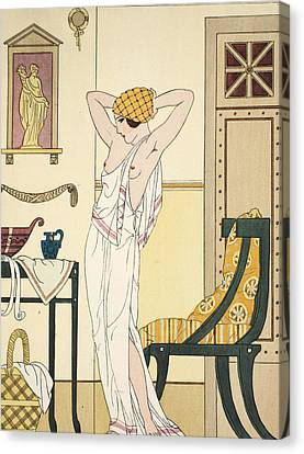 Hair Washing Canvas Print by Joseph Kuhn-Regnier