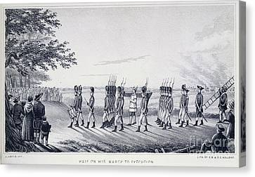 Hale On His Way To Execution Canvas Print by British Library