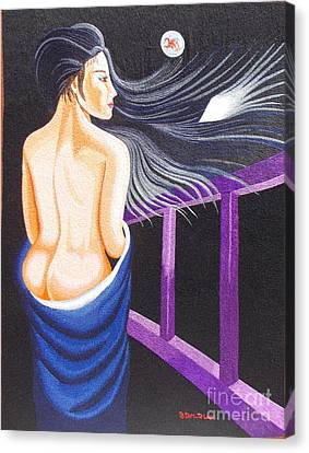 Hale Popp Hand Embroidery Canvas Print by To-Tam Gerwe
