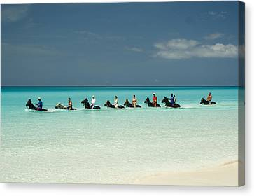 Half Moon Cay Bahamas Beach Scene Canvas Print by David Smith