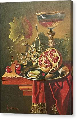 Half Of Pomegranate For You Canvas Print by Dusan Vukovic