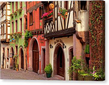Half-timbered Buildings On Rue Du Canvas Print by Brian Jannsen