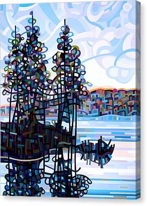 Haliburton Morning Canvas Print by Mandy Budan