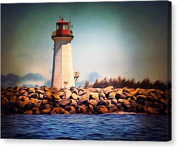 Halifax Lighthouse Nova Scotia Canvas Print by Georgiana Romanovna