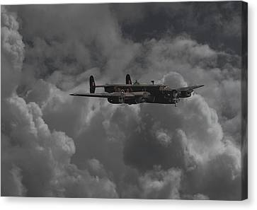 Halifax - Ww2 Heavy Bomber Canvas Print by Pat Speirs