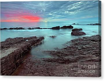 Hallett Cove Sunset Canvas Print by Bill  Robinson