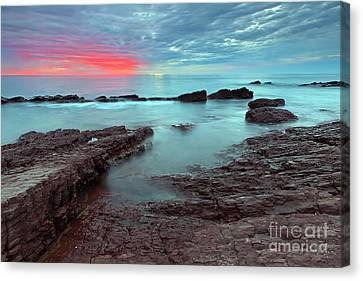 Hallett Cove Sunset Canvas Print by Bill  Robinson