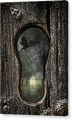 Halloween Keyhole Canvas Print by Amanda And Christopher Elwell