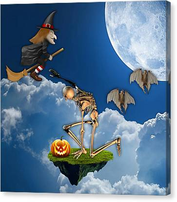Halloween Canvas Print by Marvin Blaine