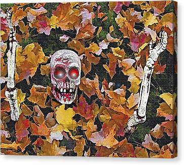 Halloween Skeleton Canvas Print by Steve Ohlsen