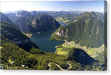 Hallstatt Lake Austria Canvas Print by Chevy Fleet