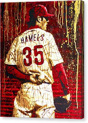 Hamels - The Executioner Canvas Print by Bobby Zeik