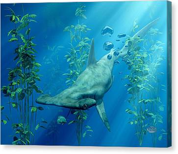 Hammerhead Art Canvas Print by Daniel Eskridge