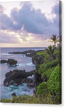 Hana Arches Sunrise 3 - Maui Hawaii Canvas Print by Brian Harig