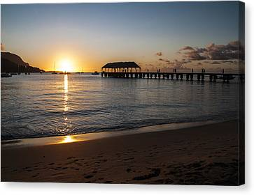 Hanalei Bay Sunset Canvas Print by Brian Harig