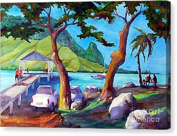Hanalei Pier Canvas Print by Jerri Grindle
