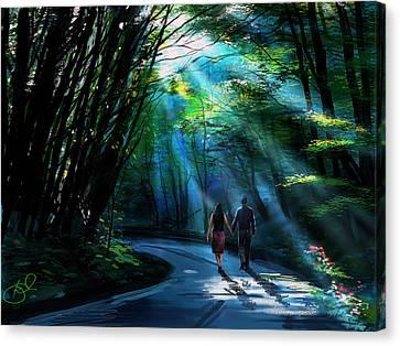 Hand In Hand Canvas Print by Kiran Kumar