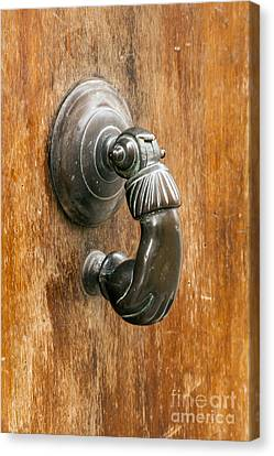 Hand Knocker Canvas Print by Bob Phillips