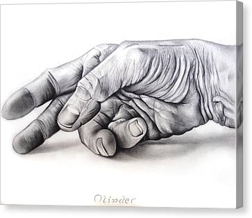 Hand Of Hard Work Canvas Print by Atinder Paul Singh