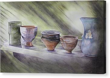 Hand Thrown Canvas Print by Patsy Sharpe
