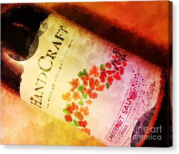 Handcraft Cabernet Sauvignon Canvas Print by Mary Machare