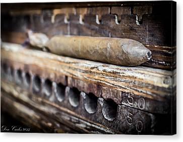 Handmade Cigars Canvas Print by Carlos Ruiz