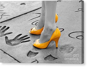Hands And Feet Canvas Print by Dan Holm