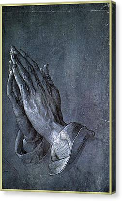 Hands Of An Apostle 1508 Canvas Print by Philip Ralley