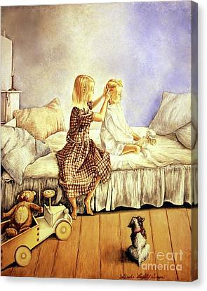 Hands Of Devotion - Childhood Canvas Print by Linda Simon
