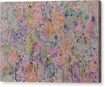Hands Of Fatima Canvas Print by Laila Shawa