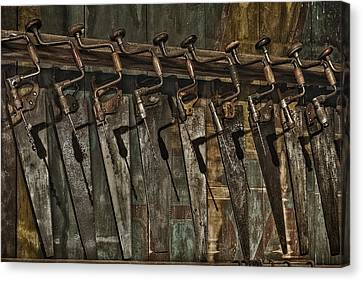 Handy Man Tools Canvas Print by Susan Candelario
