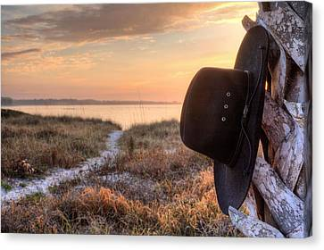 Hang Your Hat In Pensacola Canvas Print by JC Findley
