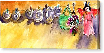 Hanging Angel In Gran Canaria Canvas Print by Miki De Goodaboom