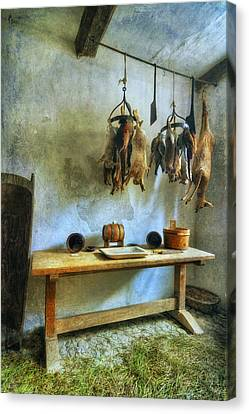 Hanging Game Canvas Print by Ian Mitchell