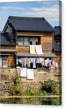 Hanging Out To Dry - Laudry Day In Japan Canvas Print by David Hill