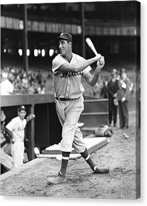 Hank Greenberg Stance And Swing Canvas Print by Retro Images Archive
