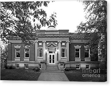 Hanover College Hendricks Hall Canvas Print by University Icons