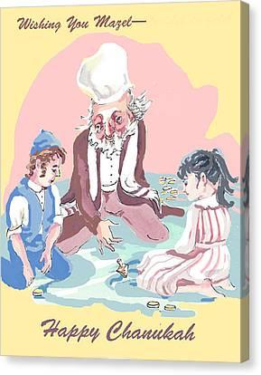 Hanukkah Joy Canvas Print by Shirl Solomon