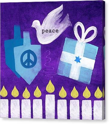 Hanukkah Peace Canvas Print by Linda Woods