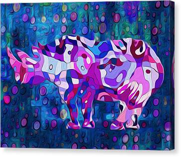 Happened At The Zoo Canvas Print by Jack Zulli