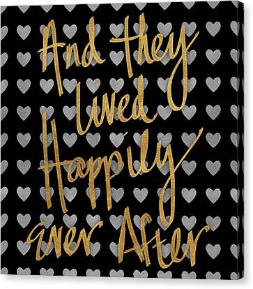 Happily Ever After Pattern Canvas Print by South Social Studio