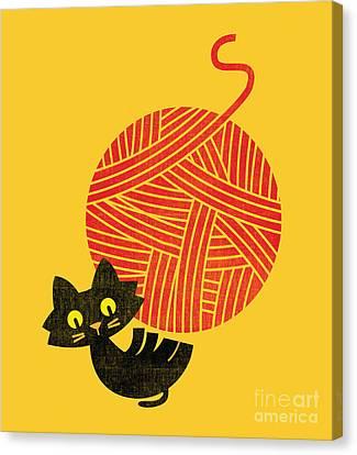 Happy Cat Canvas Print by Nava Seas
